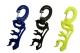 Schlauchhalter für 3 Standard Schläuche  - Farbe: gelb