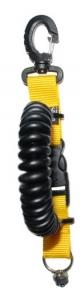 M&M Kamera Spiralkabel mit Stativschraube - Gelb