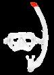 ScubaPro Pantai Combo Set - Weiß