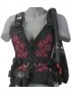 Zeagle Wingjacket Zena - Frontteil - Floral Pink - Gr: XS
