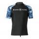 Aqualung Rash Guard Aqua - Short Sleeve - Navy White - Herren - Gr: S