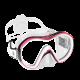 Tauchmaske Reveal X1 - Klares Silicone - Pink