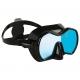 Aqualung Tauchmaske Profile DS - schwarz schwarz - Glas: Blue Mirror