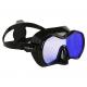 Aqualung Tauchmaske Profile DS - schwarz schwarz - Glas: Purple Mirror