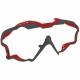 Mares Wire Color Frames - Maskenwechselrahmen - grau/rot