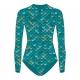 Mahina Mermaid SurfSuit (Oberteil) - Aquamarine - Gr. 116 - 122