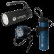 Nanight - Tauchlampen-Set - Sport 2 Schwarz & Tech 2 Blau