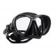 Scubapro Tauchmaske - Synergy Twin - mit Comfort Strap - Silikon: Schwarz - Rahmen: Schwarz-Silber