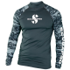 Rash Guard UPF-50 - Herren - Langarm - Graphite - Gr: S