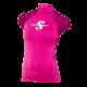 Rash Guard UPF-50 - Damen - Kurzarm - Flamingo - Gr: XS