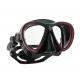 Scubapro Tauchmaske - Synergy Twin - mit Comfort Strap - Silikon: Schwarz - Rahmen: Schwarz-Rot