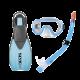 # Seac Schnorchelset Sprint Tris JR - Blau - Gr: 32-35 (XXS/XS) - Abverkauf