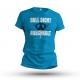 T-Shirt NULL SICHT - ARSCHKALT - blau - Gr. S