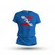T-Shirt Flagge NULL SICHT - ARSCHKALT - blau - Gr. S