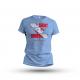 T-Shirt Flagge NULL SICHT - ARSCHKALT - hellblau - Gr. S