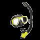 Tusa UC-7519 Splendive Maske-Schnorchel-Set - schwarz gelb