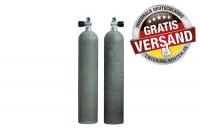 MES Alutauchflasche - Alutank - Dirty Beast - 11.1 Liter - 207 bar - Ventil 12544-LI mit Handrad links