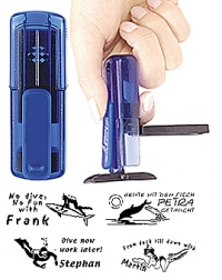 Smart-stamp - Größe: 38 x 14 mm - Farbe: aquamarine