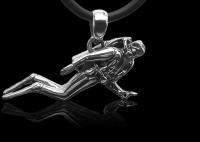 # Baruna Silber Anhänger - Taucher