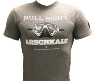 -X- XXX-X- Nullsicht - Arschkalt - T-Shirt - Grau - Gr: 3XL