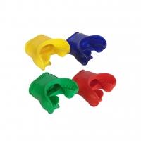 Apeks Mundstück 4er Packung - rot. gelb. grün. blau