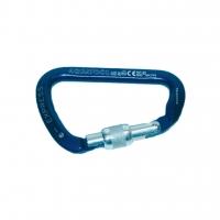 Aquatool Sicherheitskarabiner Alu - 100 mm - blau