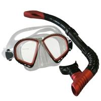 # Balzer Schnorchelset - Nova Schnorchel mit Ventil & 2 Glas Maske - Rot - Restposten