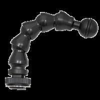 BigBlue 6 Zoll Flexible-Arm Hot Shoe/Ball Adapter (15 CM) - Flexarm mit Cold Shoe Adapter und Kugel Anschluss