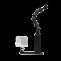 BigBlue FlexiSingleArmTray: Single Arm GoPro Tray - Schiene mit einem Handgriff und Flexarm für GoPro