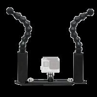 BigBlue FlexiExtendGPTray : 7 Zoll Flexi Arm Extendable GoPro Tray - Schiene mit doppel Handgriff und Flexarm für GoPro