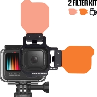 FLIP9 Two Filter Kit with SHALLOW & DIVE Filter for (GoPro HERO 9/8/7/6/5)