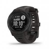 Garmin Smartwatch INSTINCT Schiefergrau/Schwarz mit Silikon-Armband Schiefergrau