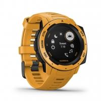 Garmin Smartwatch INSTINCT Gelb/Schwarz mit Silikon-Armband Gelb