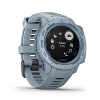 Garmin Smartwatch INSTINCT Hellblau/Blau mit Silikon-Armband Hellblau