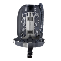 Mares Single Backmount Set - Silver Knight - Unisize