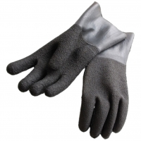 Polaris Latex Handschuhe schwarz mit rauher Oberfläche