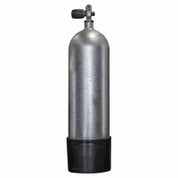 Polaris - Faber 10L Stahlflasche 200bar - Monoventil erw.- Hot Dipped