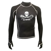 Rashguard - Unisex - Sea Shepherd Schwarz