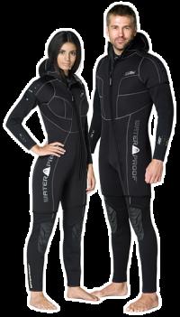 Waterproof Overvest - W-Serie - 5mm - mit Kopfhaube - Damen